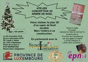 ATELIER CONCEPTION 3D ARBRE DE NOEL