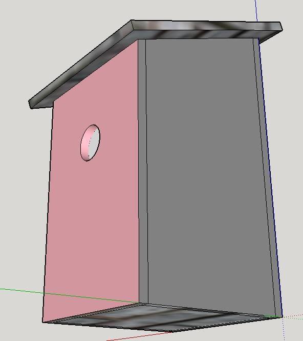 Modélisation du nichoir pour mésange charbonnière
